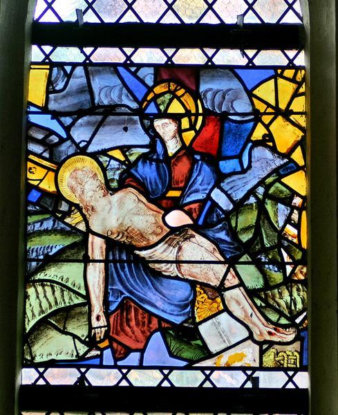 Verrière : Vierge de Pitié