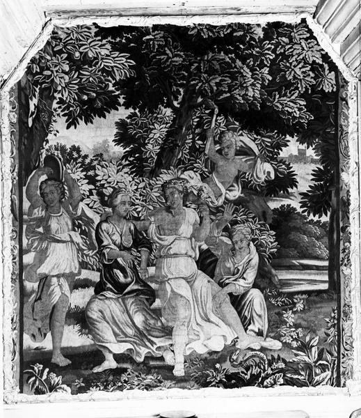 4 pièces murales : enfance de Jupiter (l'), Diane et les nymphes, Zéphire et Flore, Vénus et Adonis