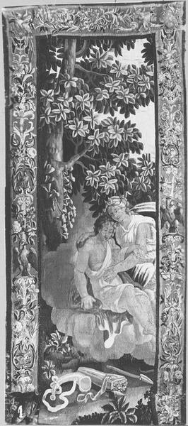 Pièce murale : Diane et Endymion, vue générale