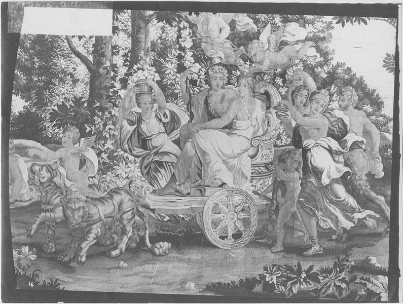 Pièce murale : Triomphe de Bacchus et d'Ariane, vue partielle