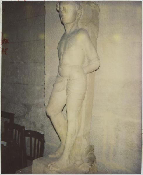 Statue: saint Sébastien, vue générale