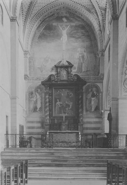 Autel, retable, tableau : L'Annonciation (maître-autel)