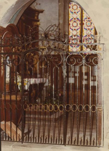 Clôture de la chapelle de la Vierge (grille)