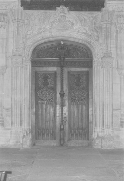 Tribune d'orgue, vantaux de la porte intérieure