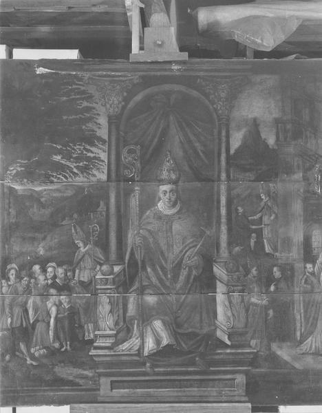Autel de saint Eloi, tableau de la corporation (panneau peint) : Saint Eloi