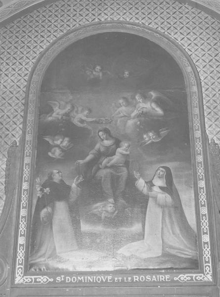 tableau : saint Dominique et le Rosaire, vue générale