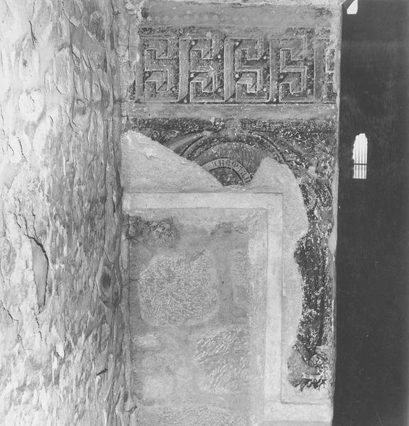 Peintures monumentales : Saint Pothin, Saint Irénée, Martyre de saint Romain, fresques