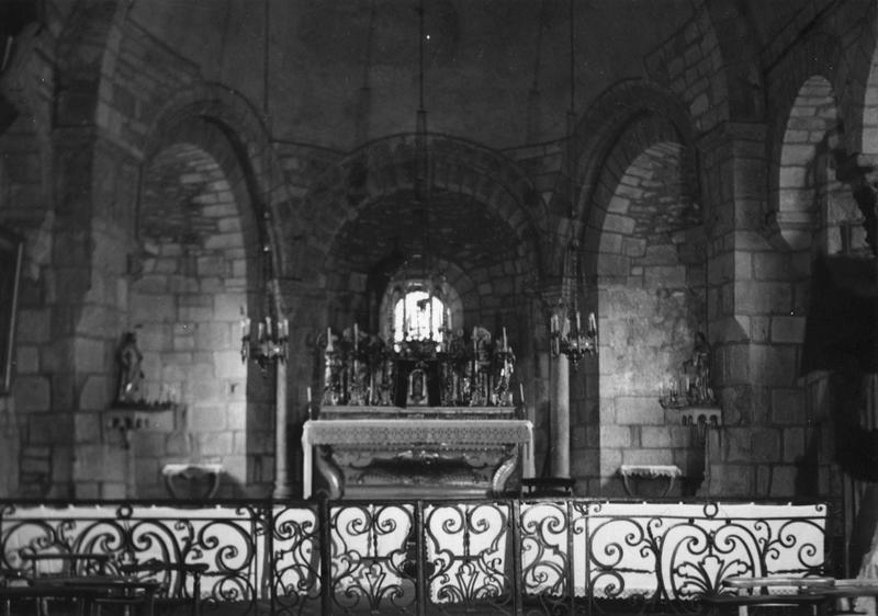 clôture liturgique (grille de communion), vue d'ensemble