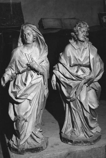 groupe sculpté (petite nature) : la Vierge, saint Joseph