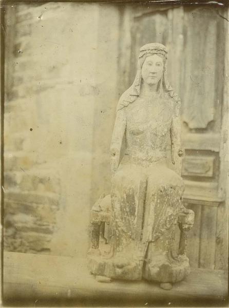 statuette reliquaire : Vierge en majesté, dite Notre-Dame du Cheylat