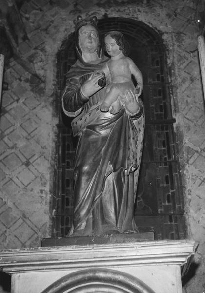 statue : la Vierge à l'Enfant, dite Vierge au raisin