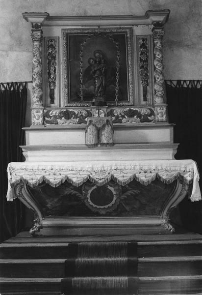 ensemble du maître-autel dit de la Vierge (autel, retable)