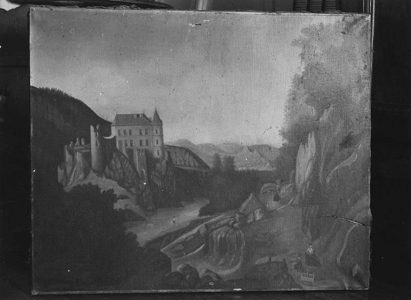 tableau : le château de Lavoûte Polignac (avant incendie)