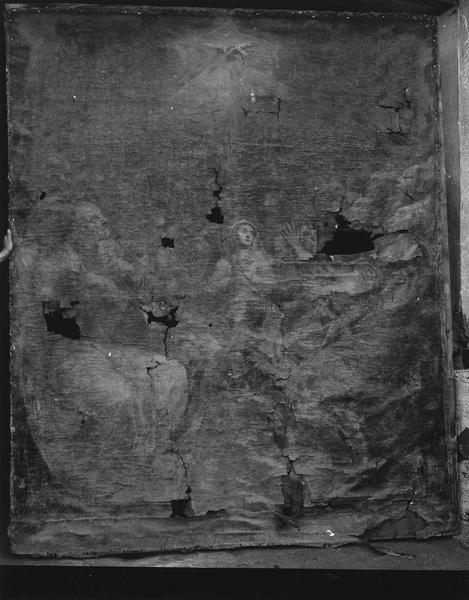 Ensemble du maître-autel de la Pentecôte de la première chapelle du sud du choeur (autel, retable)