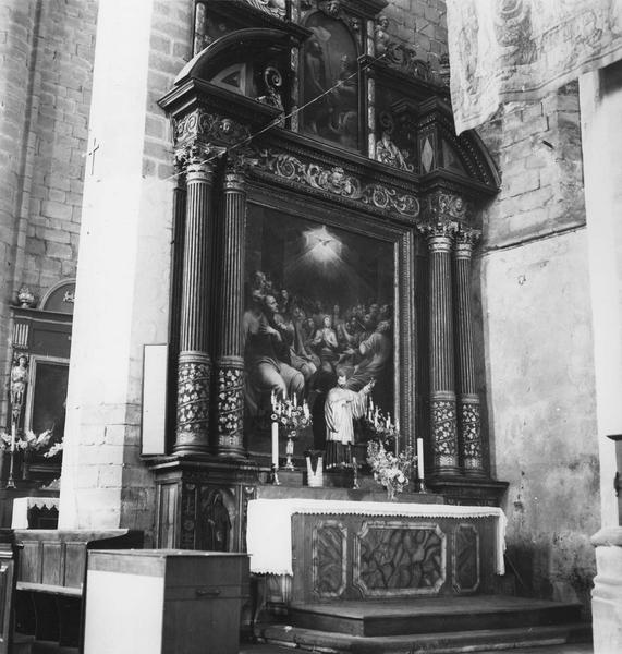 autel, retable et tableau de la Pentecôte