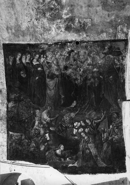 Peintures murales du croisillon Nord : sainte Ursule et les onze mille vierges