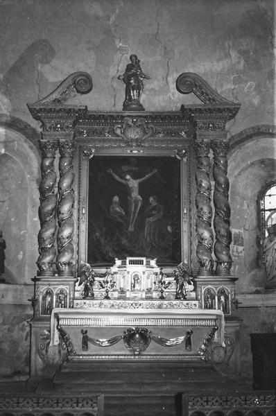 autel, tabernacle, retable, vue ensemble du maître-autel