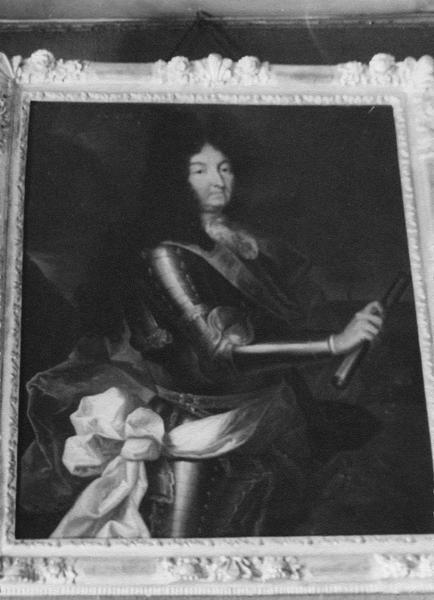 portait de Louis XIV dans le grand salon d'après Rigaud
