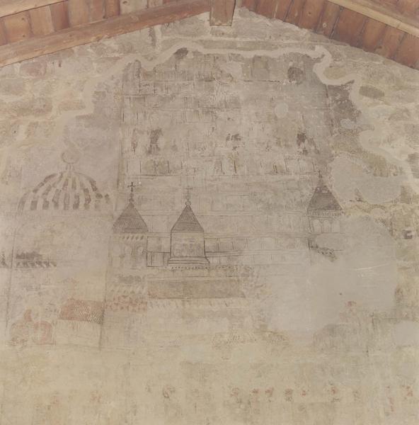 peinture murale : le siège d'une ville, détail