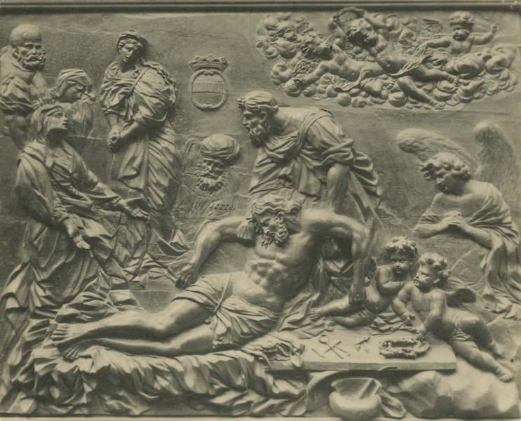 Bas-relief : la Mise au tombeau (décor de la chapelle Saint-Maurice du refuge)