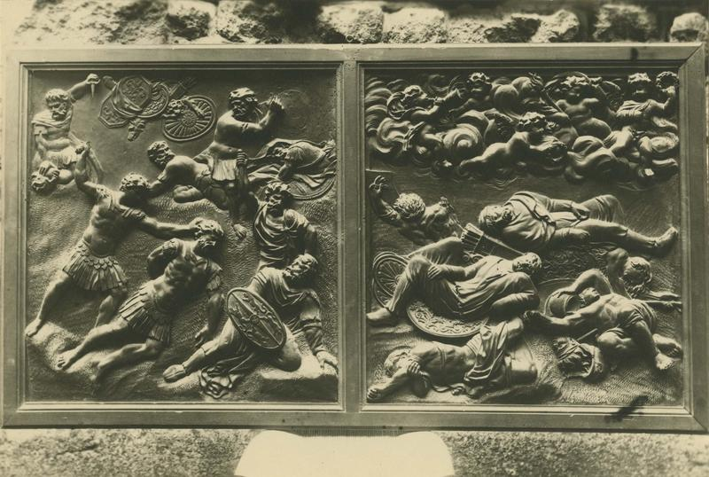 bas-relief : le Massacre de la Légion thébaine
