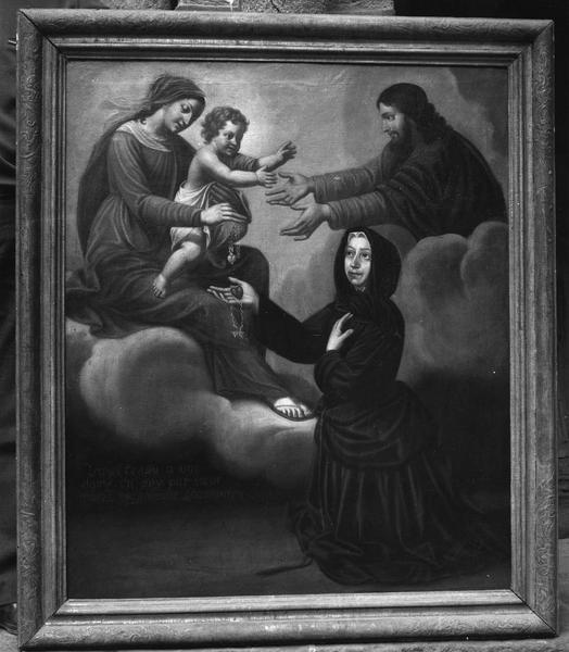 tableau votif : voeu de soeur Marie Madeleine Chastainier ou Chasseigner
