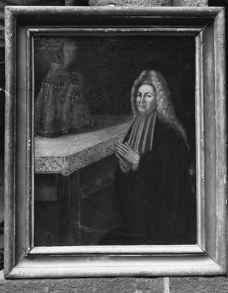tableau votif : homme devant la Vierge noire