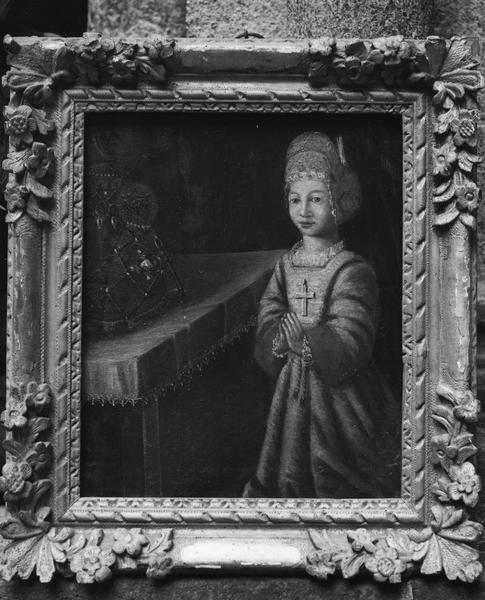 tableau votif : voeu de Gabrielle Meynadier à la Vierge