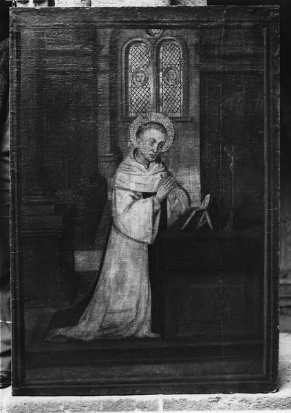 tableau : saint Bernard en prières