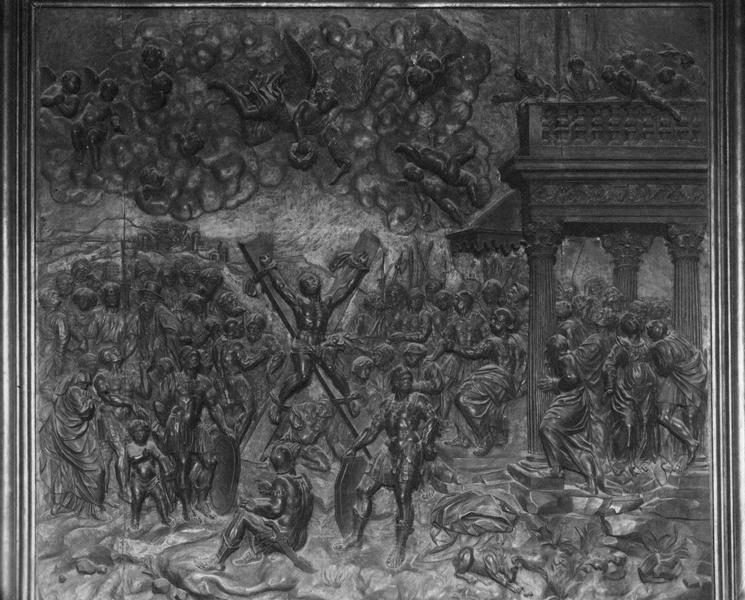 bas-relief : le martyre de saint André