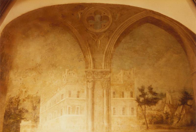 peintures monumentales : paysages, mur Ouest, détail