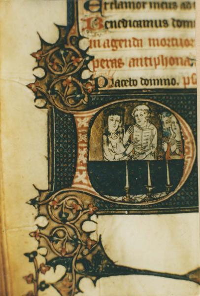manuscrit, dit psautier d'Aigueperse, détail