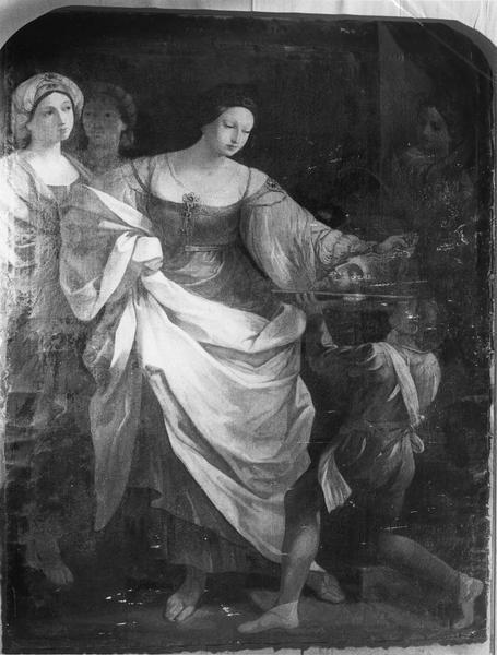 tableau : Salomé recevant la tête de saint Jean-Baptiste