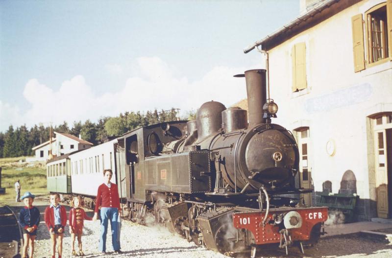 locomotive à vapeur : locomotive-tender type Mallet, à voie métrique : 020 + 020 T 101