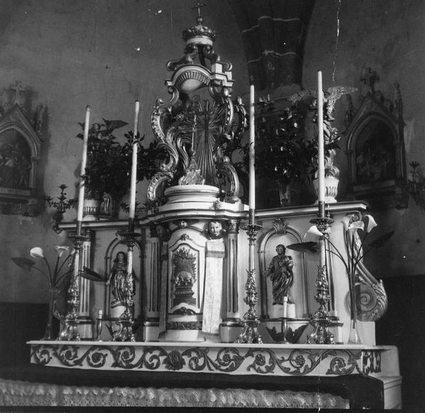 autel, tabernacle : vue d'ensemble