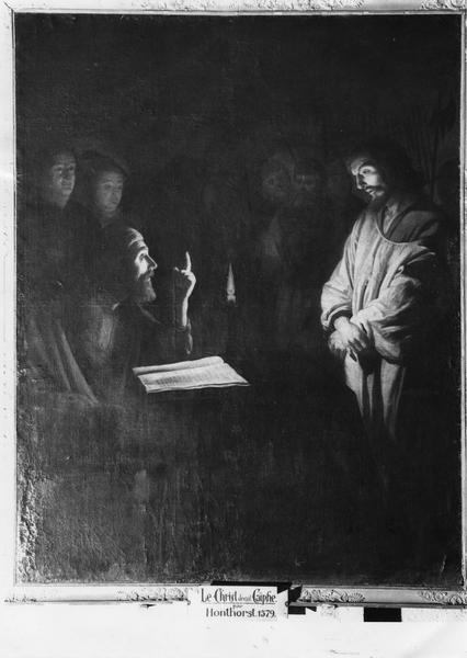 tableau : le Christ devant Caïphe