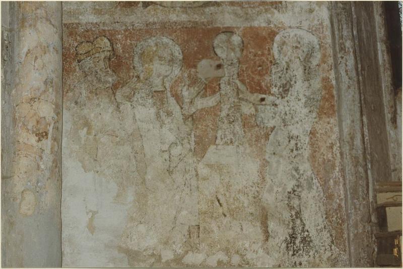Peintures monumentales : Vie de la Vierge (la), détail