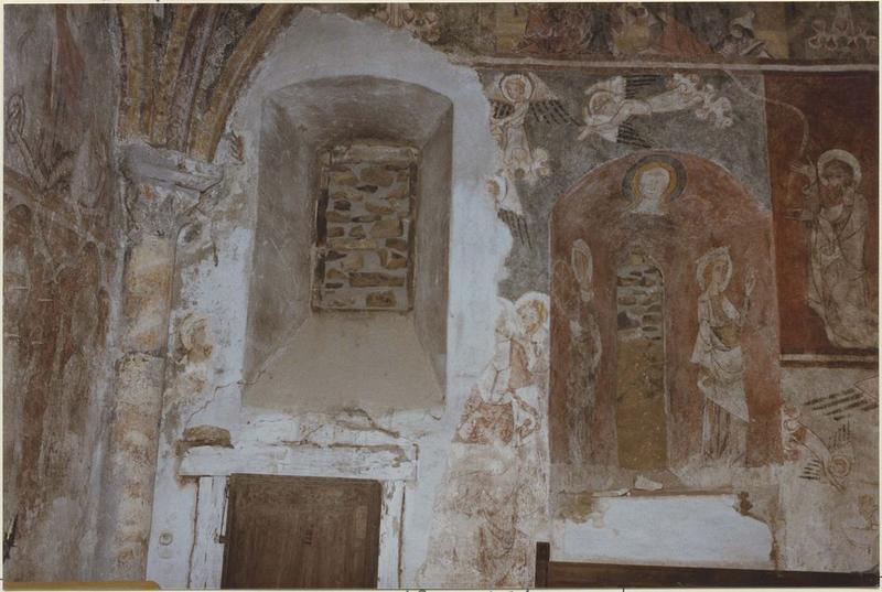 Peintures monumentales : Vie de la Vierge (la), vue partielle
