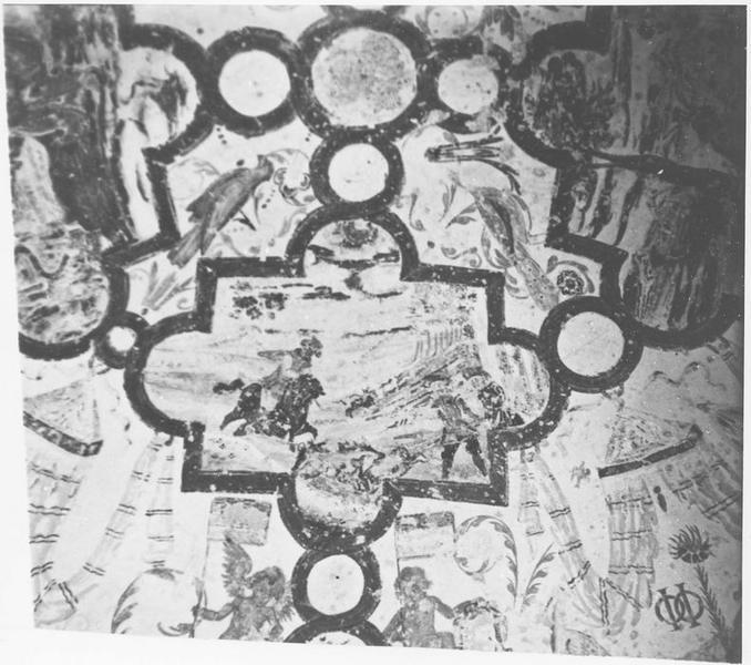 Peintures monumentales: scènes de chasse, détail