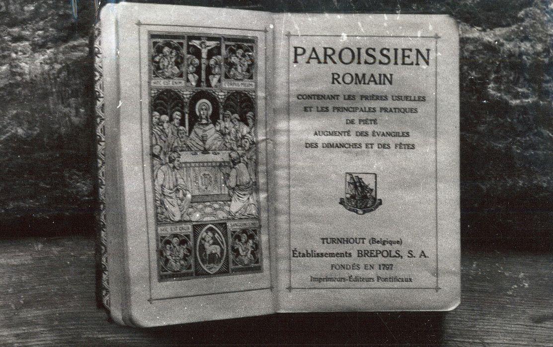 livre de prières : Paroissien Romain