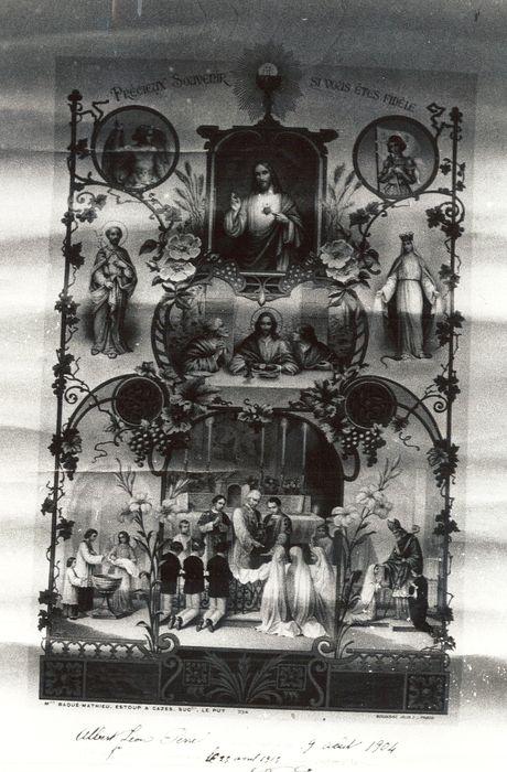 image de commémoration : Communion solennelle d'Albert Léon Perrel (25 avril 1915)