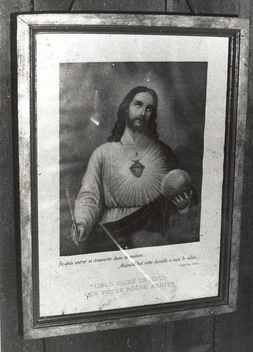estampe et son cadre : Sacré-Coeur