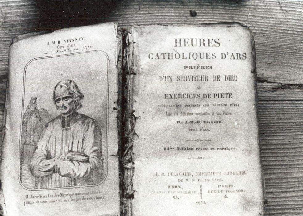 livre de prières : Heures catholiques d'Ars ou Exercices de piété