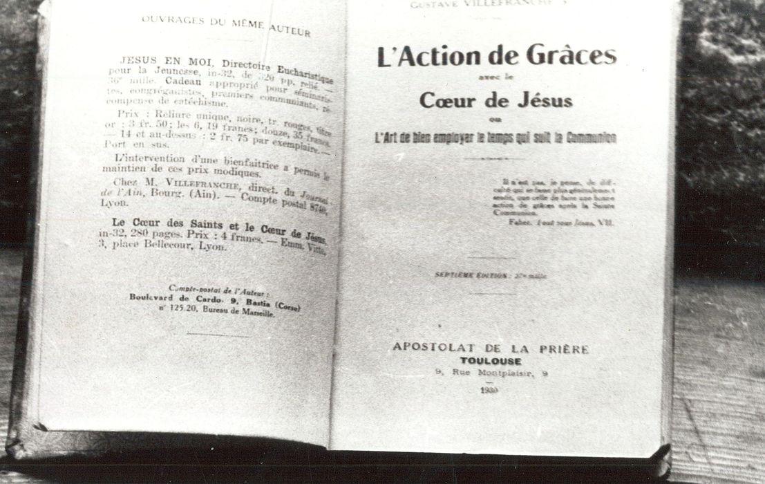 livre : L'Action de Grâces avec le Coeur de Jésus