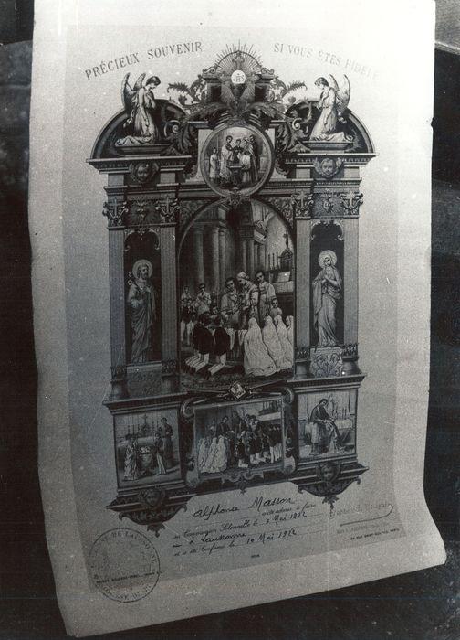 image de commémoration : Communion solennelle de Marie Masson