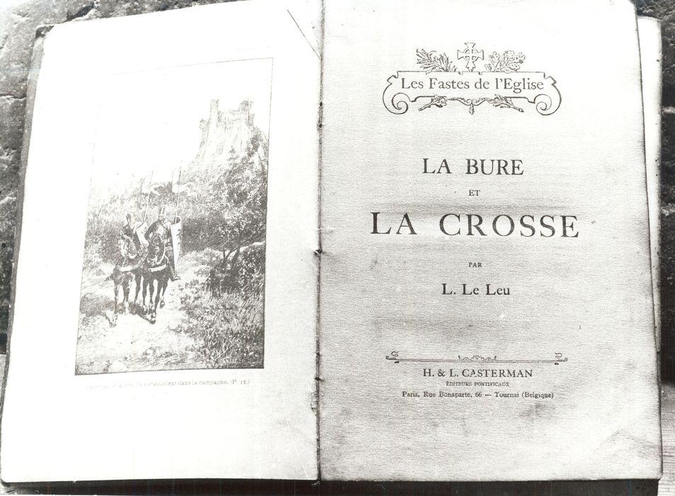 Livre : Les Fastes de l'Eglise, La Bure et la Crosse