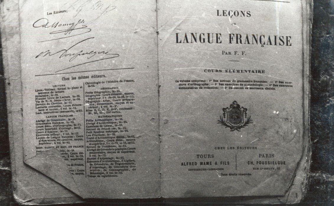 livre : Leçons de langue française, cours élémentaire