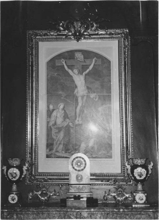 Estampe et son cadre : Crucifixion