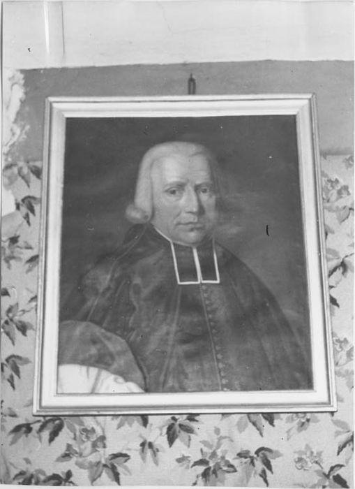 Tableau et son cadre : Portrait d'abbé