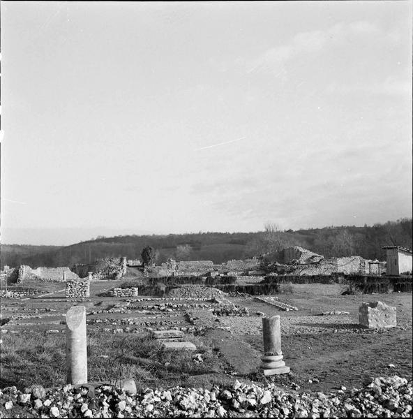 Le site ; bases de colonnes